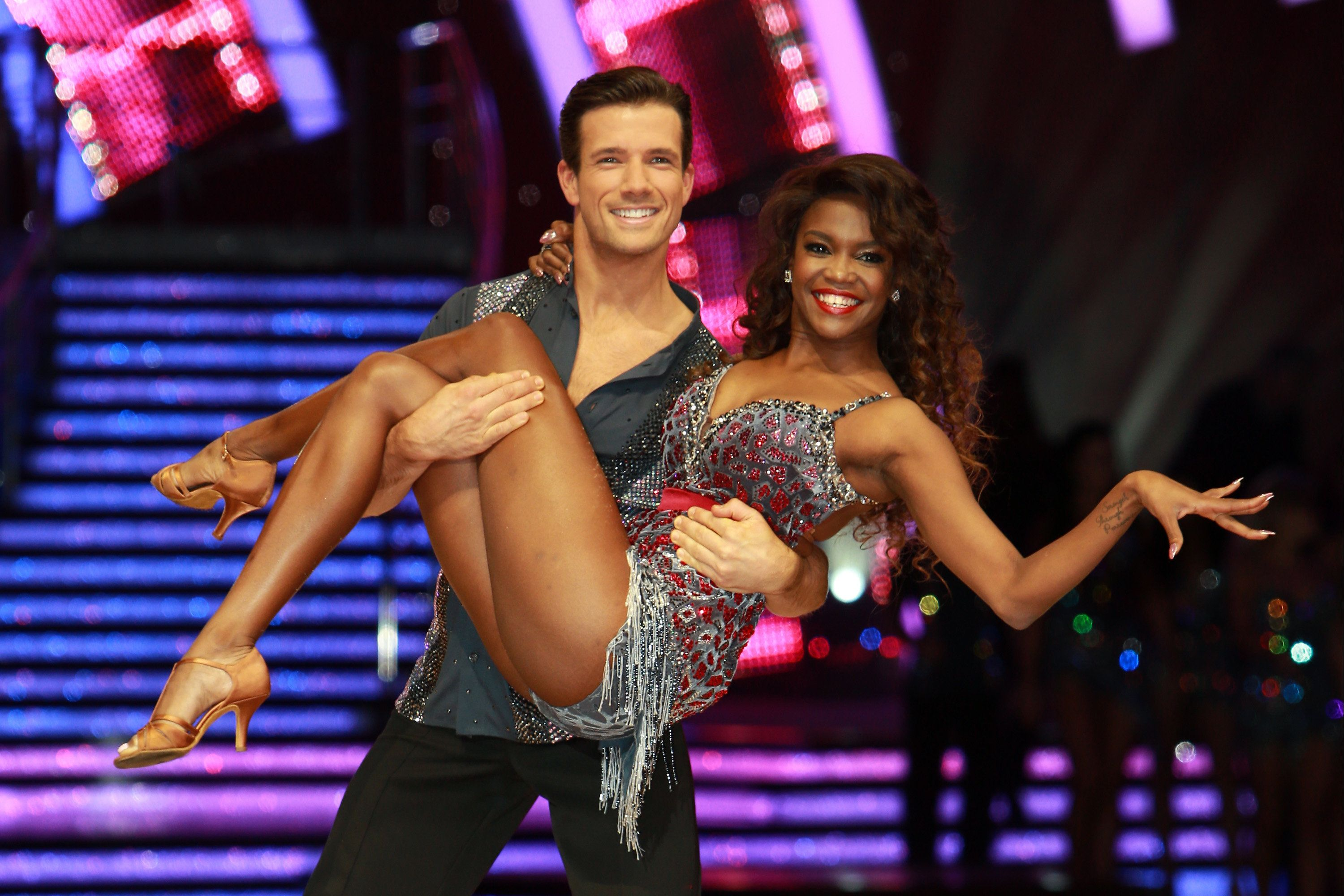 BIRMINGHAM, ENGLAND - JANUARY 19:  Danny Mac and Oti Mabuse attend the photocall for the 'Strictly Come Dancing' live tour on January 19, 2017 in Birmingham, England.  (Photo by Mark Milan/WireImage)