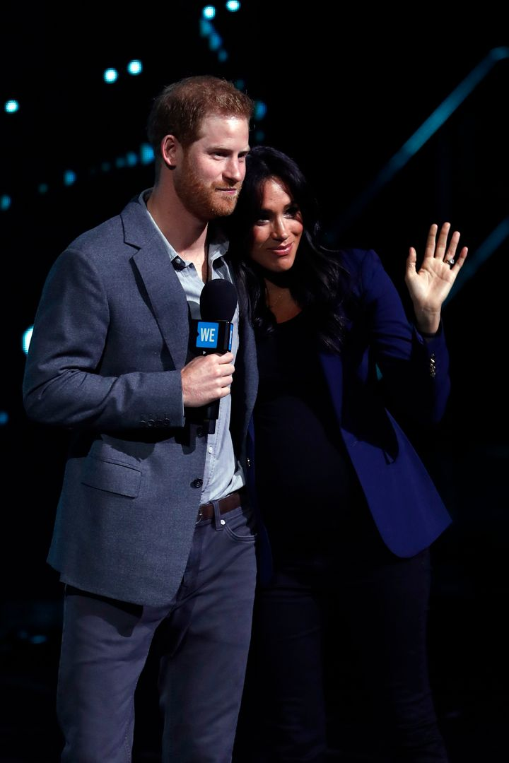 Prince Harry and Meghan, Duchess of Sussex, want the impending birth of their first child to be a private matter, Buckin