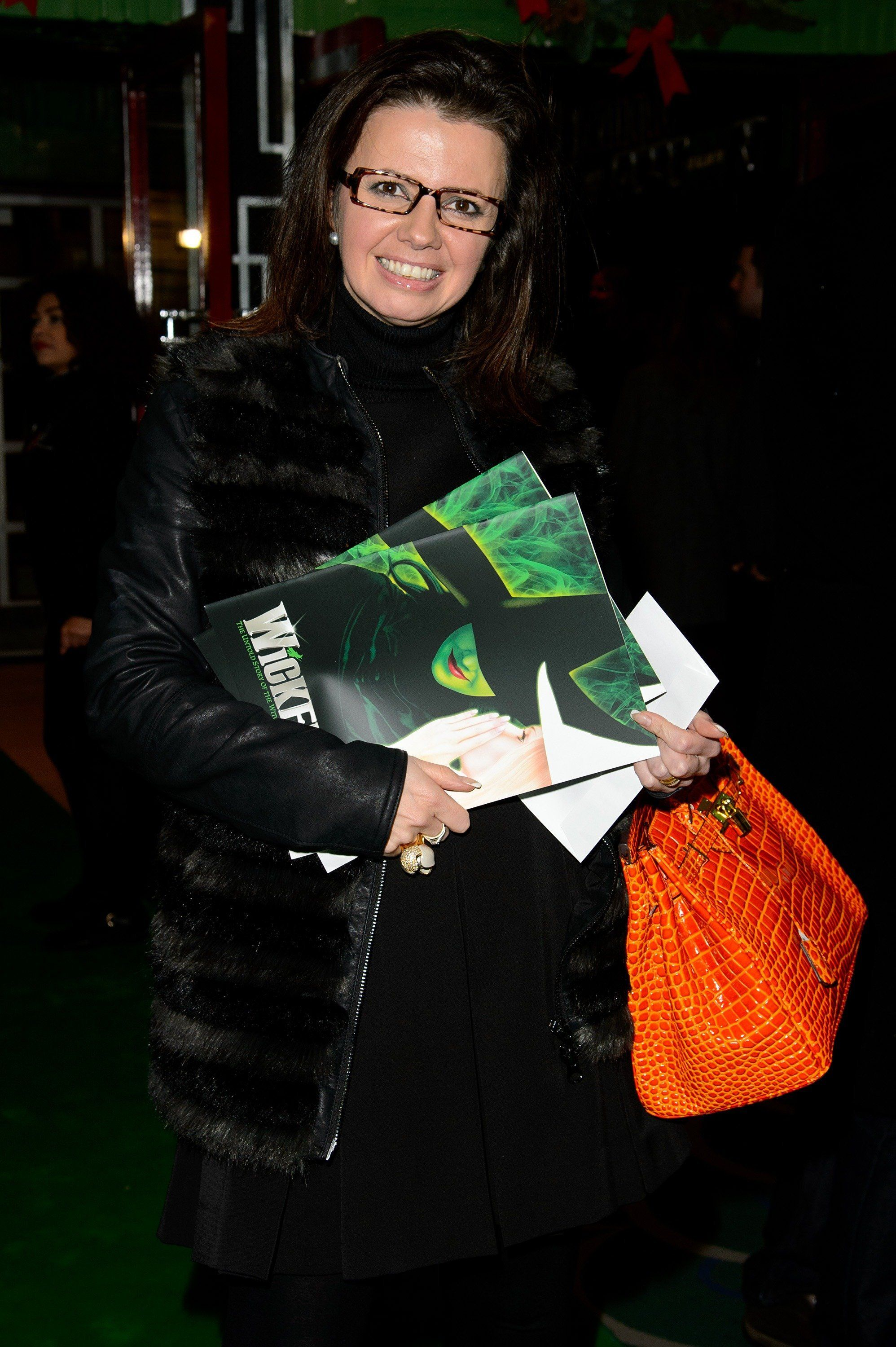 LONDON, ENGLAND - DECEMBER 19:  Karen Hardy attends the press night for 'Wicked' at Apollo Victoria Theatre on December 19, 2013 in London, England.  (Photo by Ben A. Pruchnie/Getty Images)