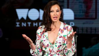 Actress Ashley Judd speaks during the  'Feminism: A Battlefield Report' session at the 10th Anniversary Women In The World Summit on April 11, 2019 in New York City. (Photo by Johannes EISELE / AFP)        (Photo credit should read JOHANNES EISELE/AFP/Getty Images)