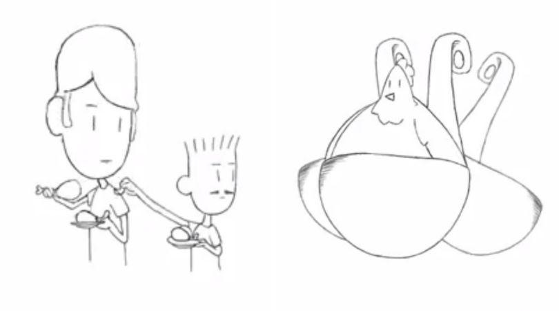 Lembra do áudio 'Três conchadas de galinha'? Ele virou uma animação
