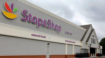 This Tuesday, June 5, 2012, photo, shows the new Stop & Shop super market store in Pembroke, Mass. Royal Ahold NV, the Dutch owner of U.S. supermarket chains Stop & Shop and Giant, says first quarter sales rose but earnings declined in the first quarter, mostly due to the timing of the Easter holiday. (AP Photo/Stephan Savoia)