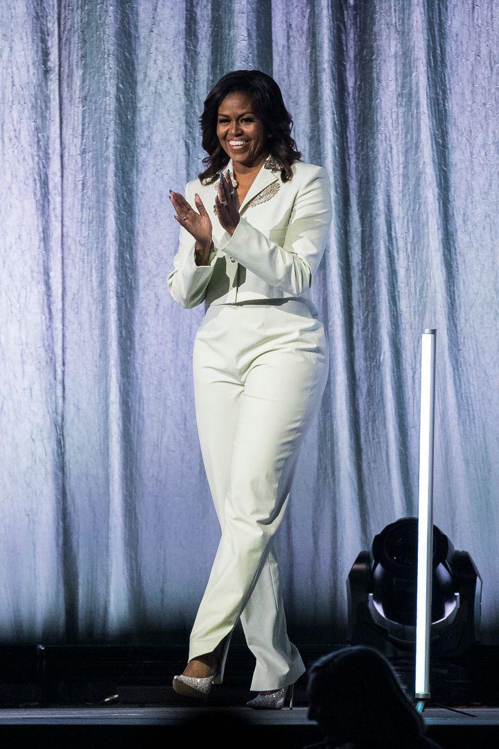Obama at the Ericsson Globe Arena in Stockholm on April 10.