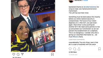 Anti-Muslim conspiracy theorist made a series of bigoted posts targeting Rep. Ilhan Omar (D-MN) on Instagram.