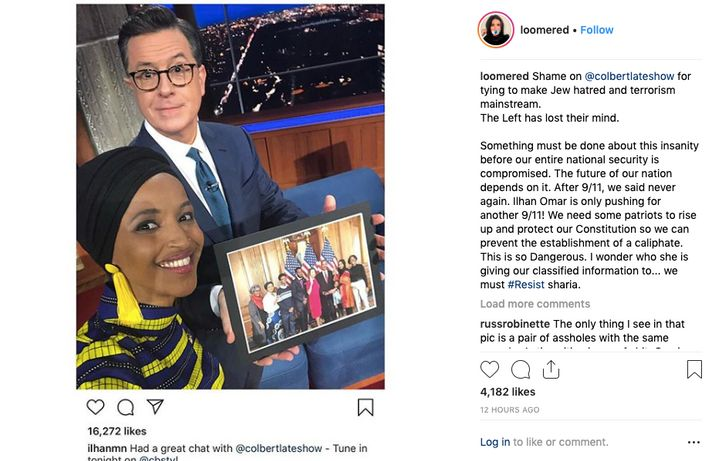 "Anti-Muslim conspiracy theorist Laura Loomer incited her followers to ""rise up"" against Rep. Ilhan Omar, whom Loomer falsely"