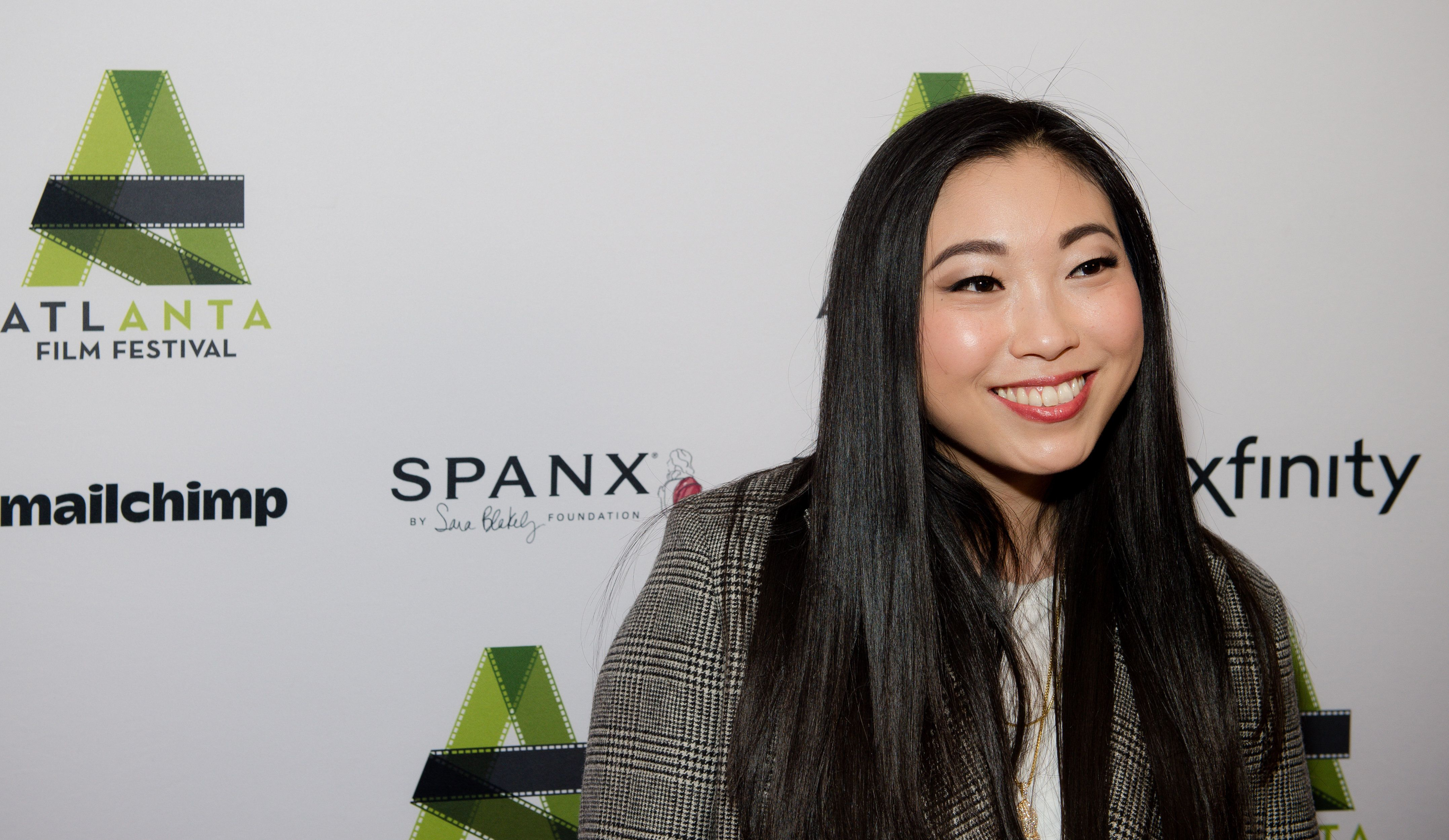 ATLANTA, GEORGIA - APRIL 05: Actress Awkwafina attends the Atlanta Film Festival opening night red carpet for 'The Farewell' at Plaza Theatre on April 05, 2019 in Atlanta, Georgia. (Photo by Marcus Ingram/Getty Images)