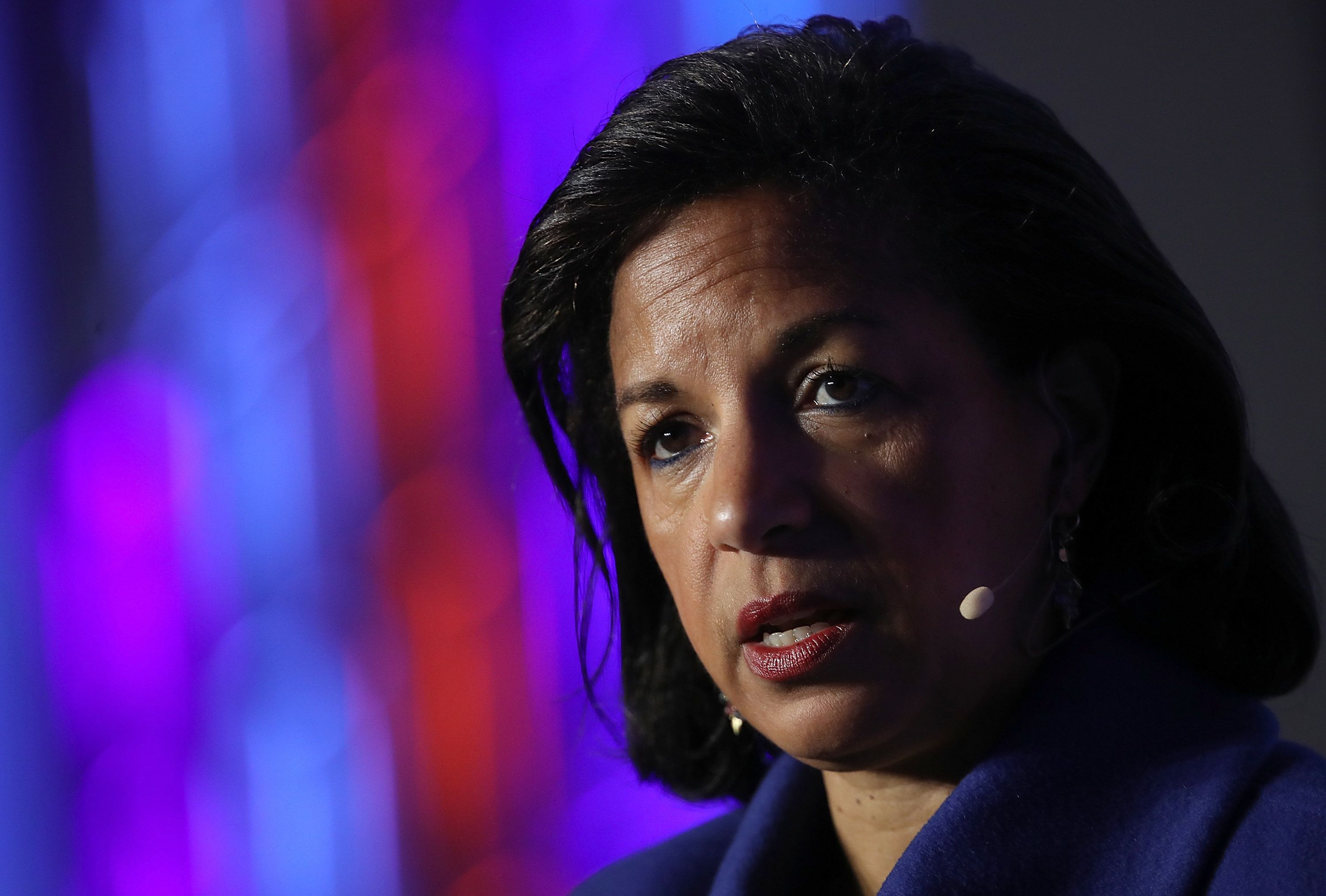 WASHINGTON, DC - APRIL 16:  Former National Security Advisor Susan Rice speaks at the J Street 2018 National Conference April 16, 2018 in Washington, DC. Rice spoke on the topic of 'The Dangers of U.S. Foreign Policy Under Trump'.  (Photo by Win McNamee/Getty Images)