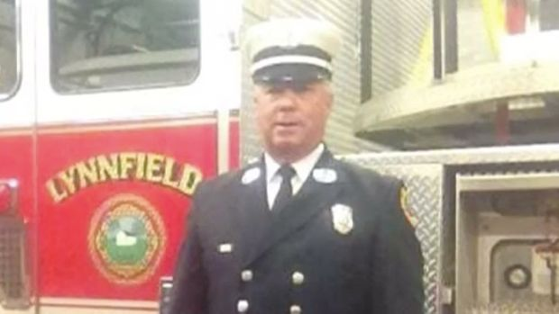 Firefighter John Walsh has been placed on leave after he allegedly walked naked into a Rhode Island convenience store.