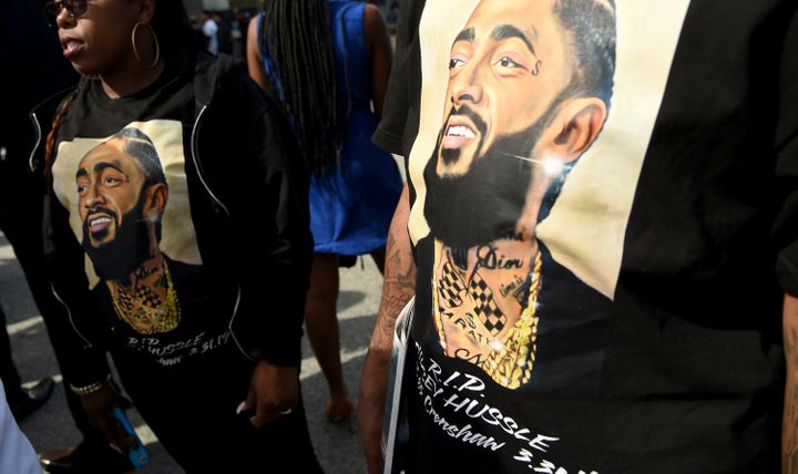 Celebrities Show Love To Nipsey Hussle Online During His Funeral Service