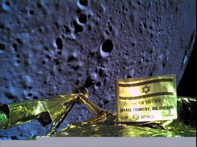 11日、月面着陸に向かう探査機「ベレシート」から地球に送られてきた写真。「スペースIL」提供=ロイター