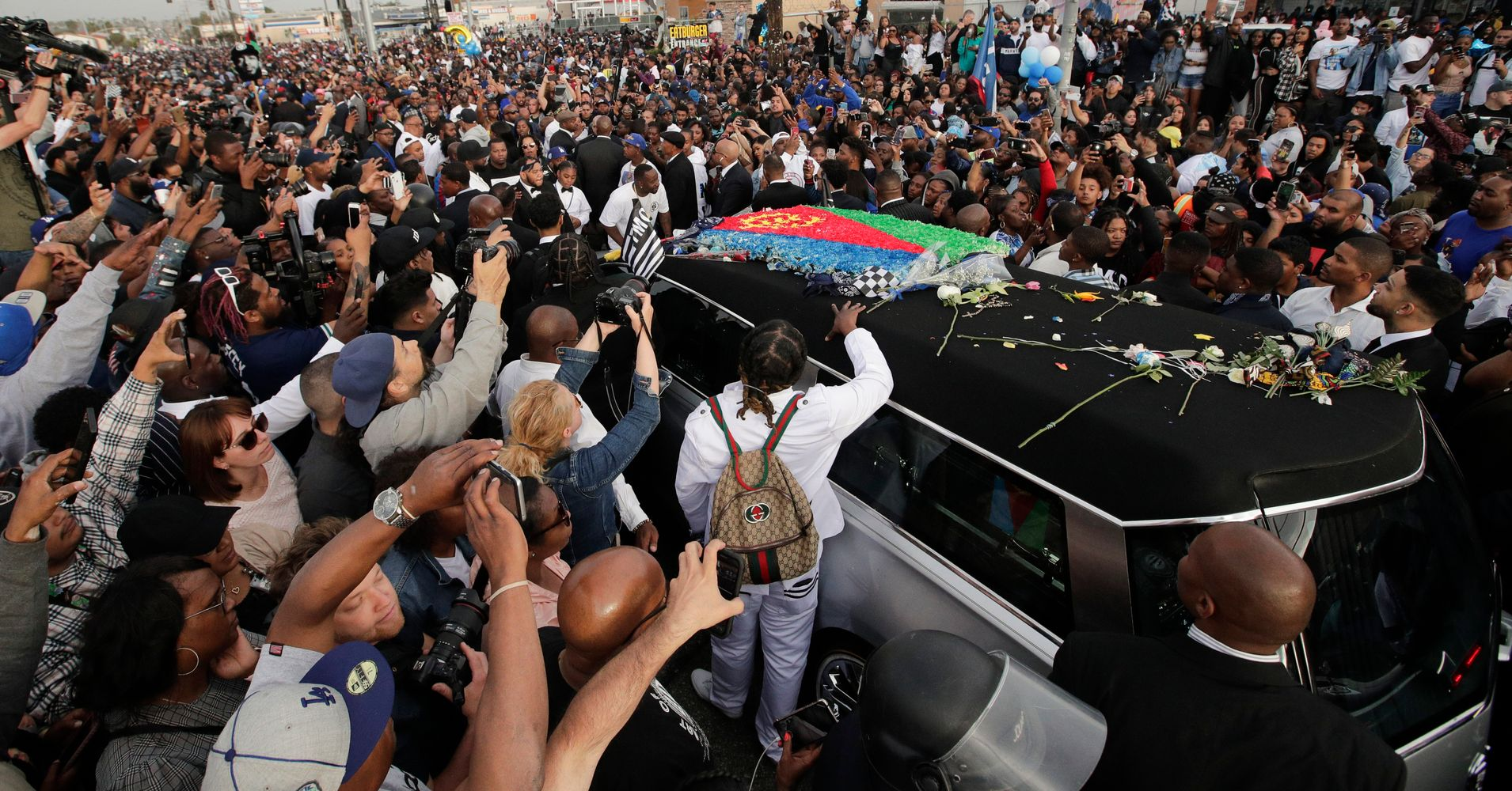 1 Killed, 3 Injured In Drive-By Shooting At Crowd Gathered For Nipsey Hussle Memorial