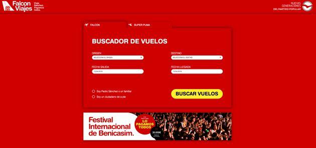 El PP abre 'Falcon Viajes' al lado de la sede del PSOE para denunciar