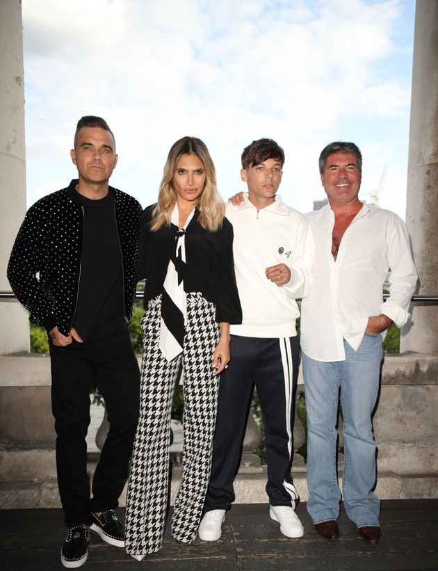 The 2018 X Factor judges Robbie Williams, Ayda Field, Louis Tomlinson and Simon