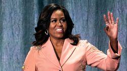 Michelle Obama met tout le monde d'accord dans ce costume rose à