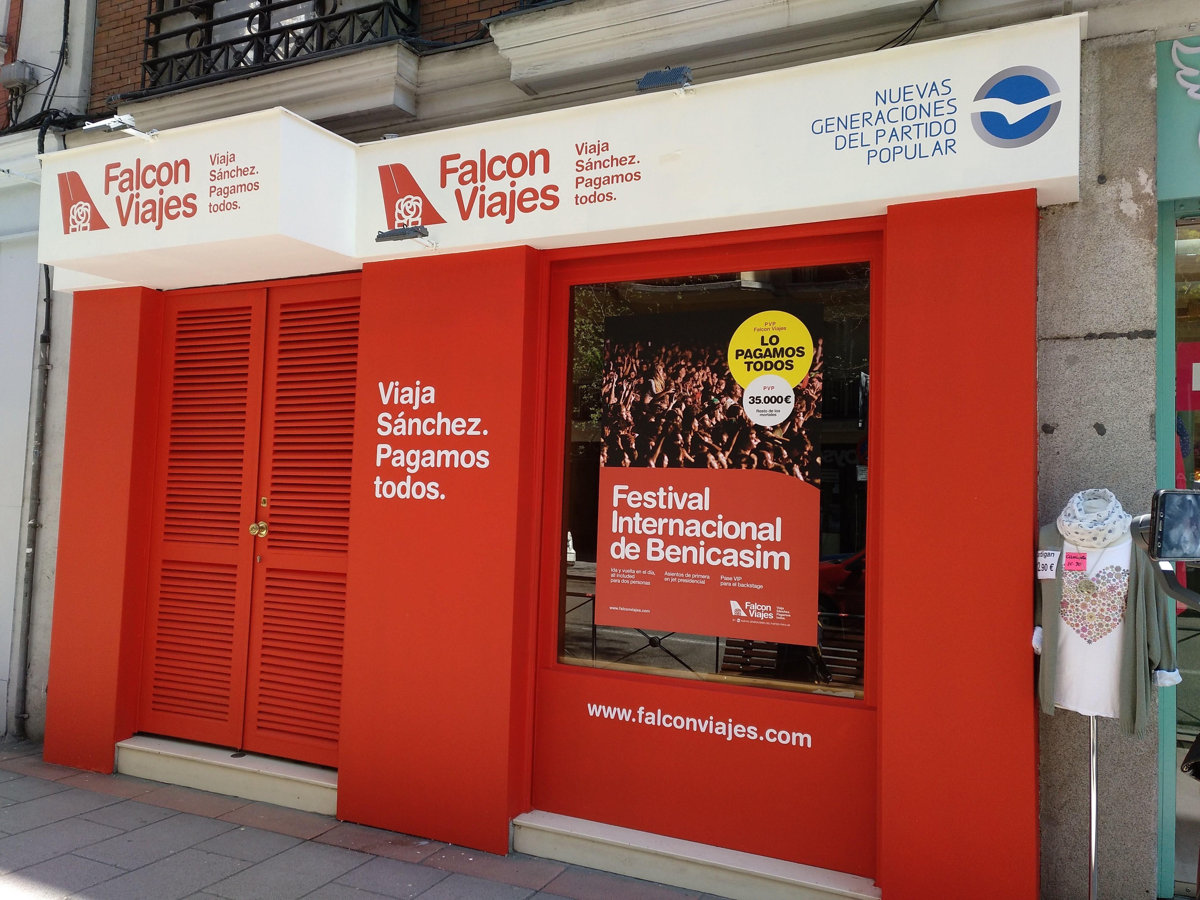La broma de 'Falcon Viajes': el local cuesta 2.600 euros y ni siquiera está