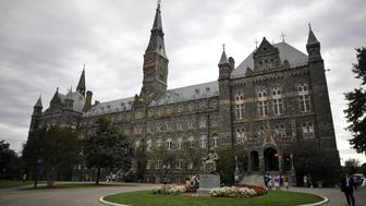 Healy Hall, the flagship building of Georgetown University's main campus in Washington, DC, is seen on September 30, 2011. Healy Hall building is listed as a national historic landmark . AFP PHOTO/Mladen ANTONOV (Photo credit should read MLADEN ANTONOV/AFP/Getty Images)