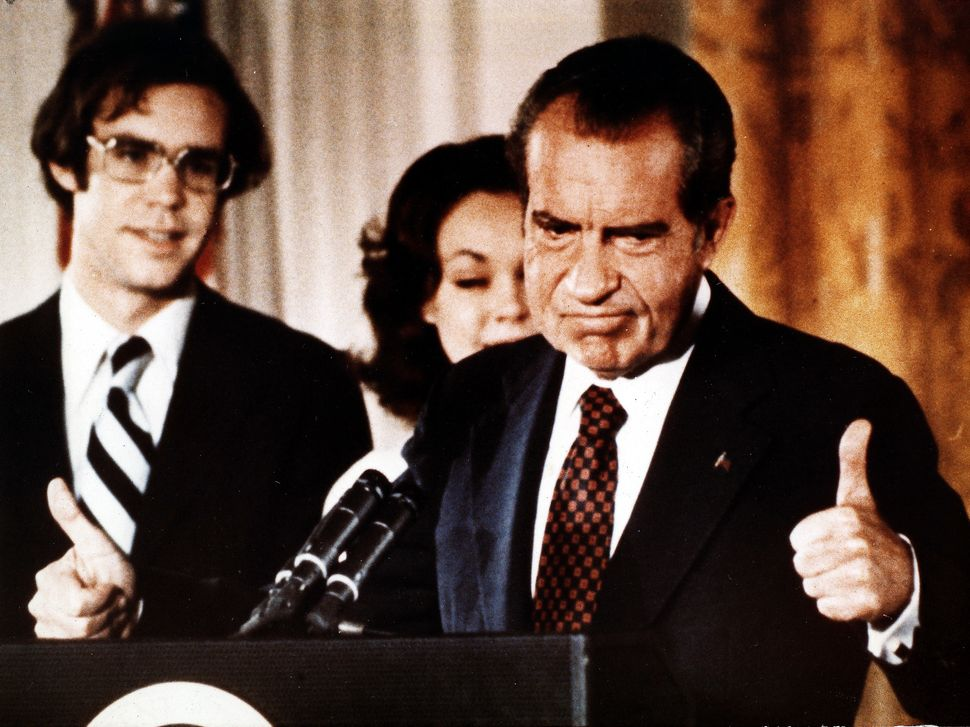 President Richard Nixon ordered his cabinet and aides to access tax returns of his political opponents.