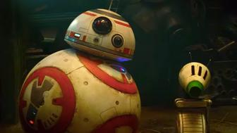 R2-D2 and friend in Star Wars episode 9