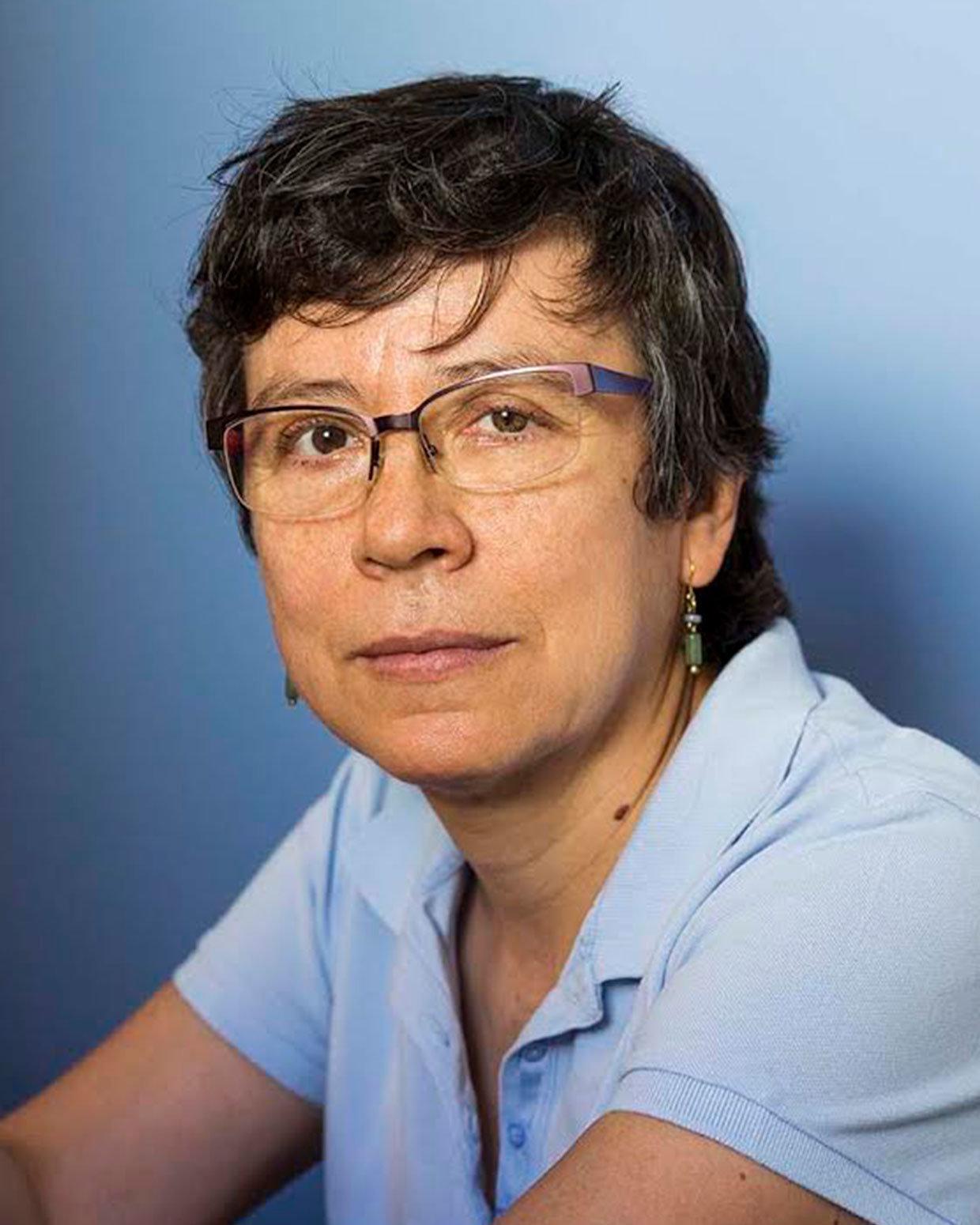 La periodista y escritora colombiana Marbel Sandoval Ordóñez. / Fotografía de Lisbeth