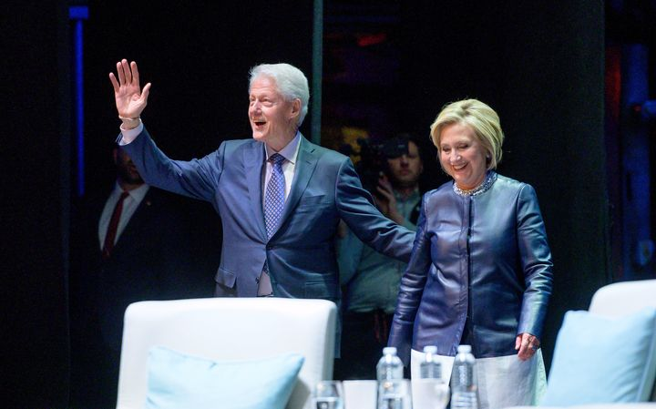 Bill and Hillary Clinton take the stage in Manhattan on April 11 to offer their analysis and their memories.
