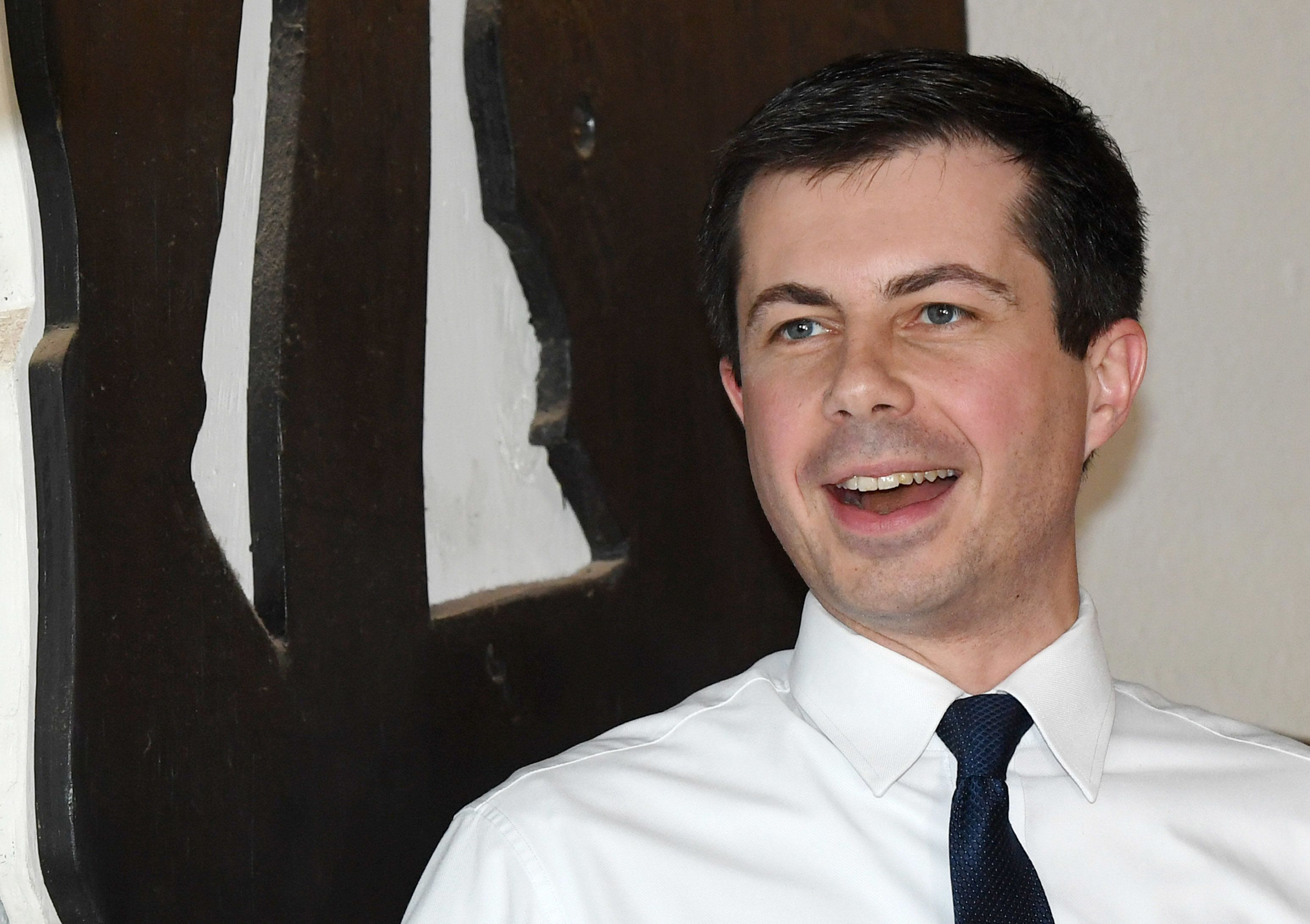 LAS VEGAS, NEVADA - APRIL 08:  South Bend, Indiana Mayor Pete Buttigieg speaks during a meet-and-greet at Madhouse Coffee on April 8, 2019 in Las Vegas, Nevada. Buttigieg recently launched an exploratory committee to run for the 2020 Democratic presidential nomination and has seen a surge in the polls amid a crowded field of Democratic candidates.  (Photo by Ethan Miller/Getty Images)