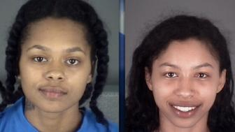 From left: Oasis Shakira McLeod, 18; Jeniyah McLeod, 19; Cecilia Eunique Young, 19