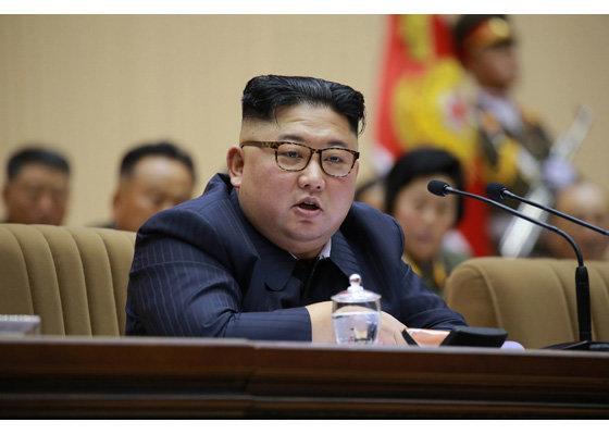 김정은이 하노이 회담 결렬 이후 처음으로 입장을