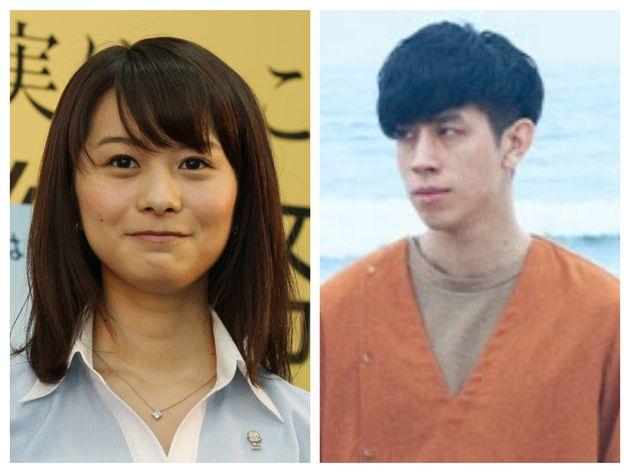 尼川元気さん(右)と高見侑里さん