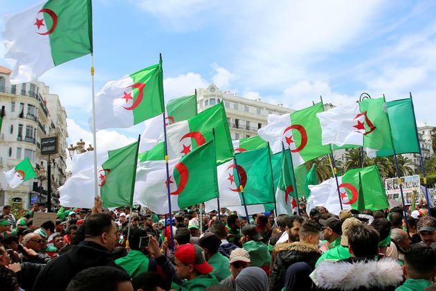 Algérie: les drapeaux,