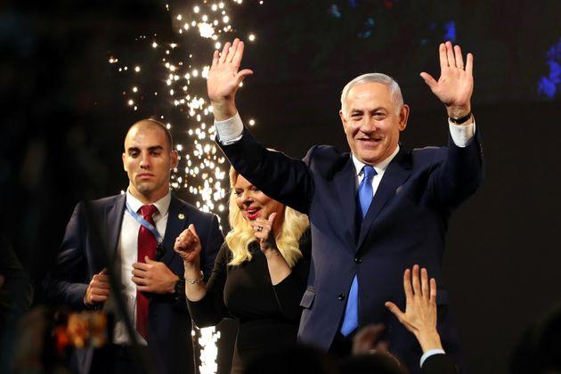 Benjamin Netanyahu le 9 avril, après l'annonce des résultats des élections