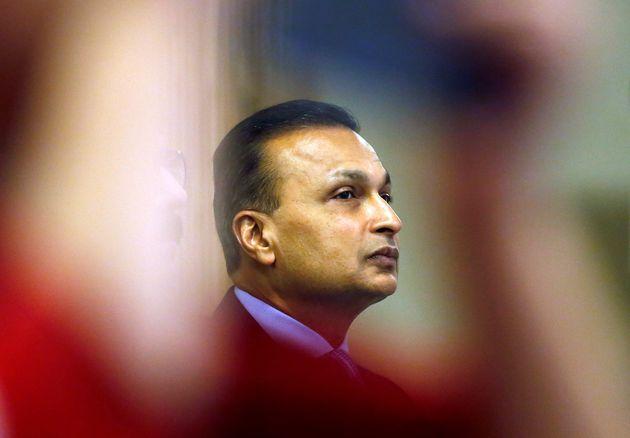 Anil Ambani lors d'une conférence de presse à Mumbai, en Inde, le 2 juin