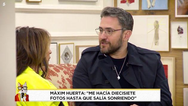 María Patiño se derrumba entrevistando a Màxim Huerta en