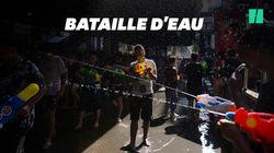 À Bangkok, une bataille d'eau géante pour fêter le nouvel