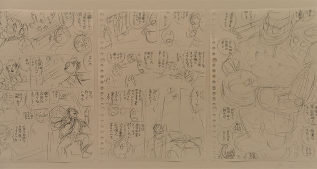 「ラフ∞絵」展に展示されている秋本治さんのネーム