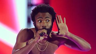 LAS VEGAS, NV - SEPTEMBER 21:  Actor/comedian Donald Glover as recording artist Childish Gambino performs during the 2018 iHeartRadio Music Festival at T-Mobile Arena on September 21, 2018 in Las Vegas, Nevada.  (Photo by Ethan Miller/WireImage)