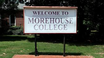 ATLANTA - JULY 18:  'Welcome To Morehouse College' signage on July 18, 2015 in Atlanta, Georgia. (Photo By Raymond Boyd/Getty Images)