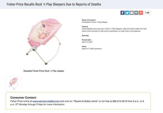30人以上の幼児が死亡、米フィッシャープライスがベビーベッドを大量リコール