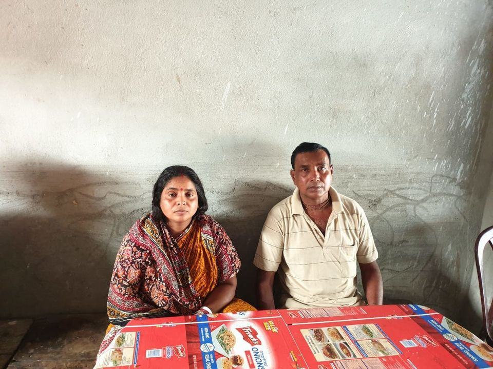 Manju and Ujjwal Burman in the shop set up by their deceased son