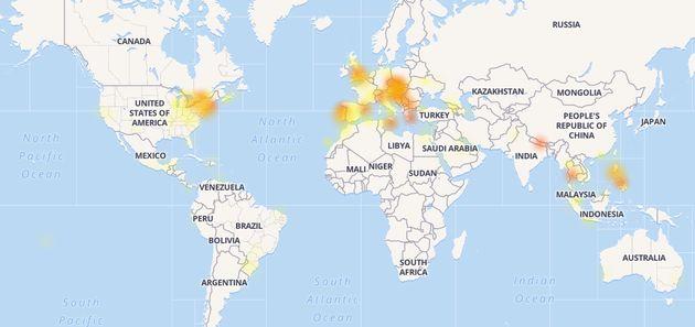 Caída a nivel mundial de WhatsApp, Facebook e