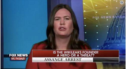 Huckabee Sanders: Trump Was 'Making A Joke' When He Said He Loved Wikileaks