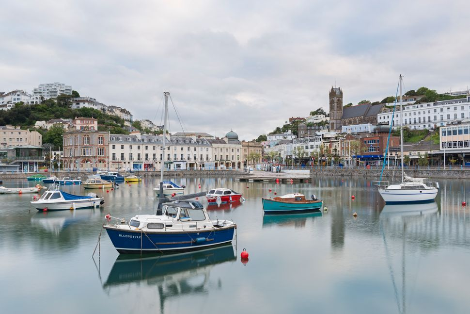 Boats moored in the harbour at Torquay, South Devon, England, United Kingdom, Europe