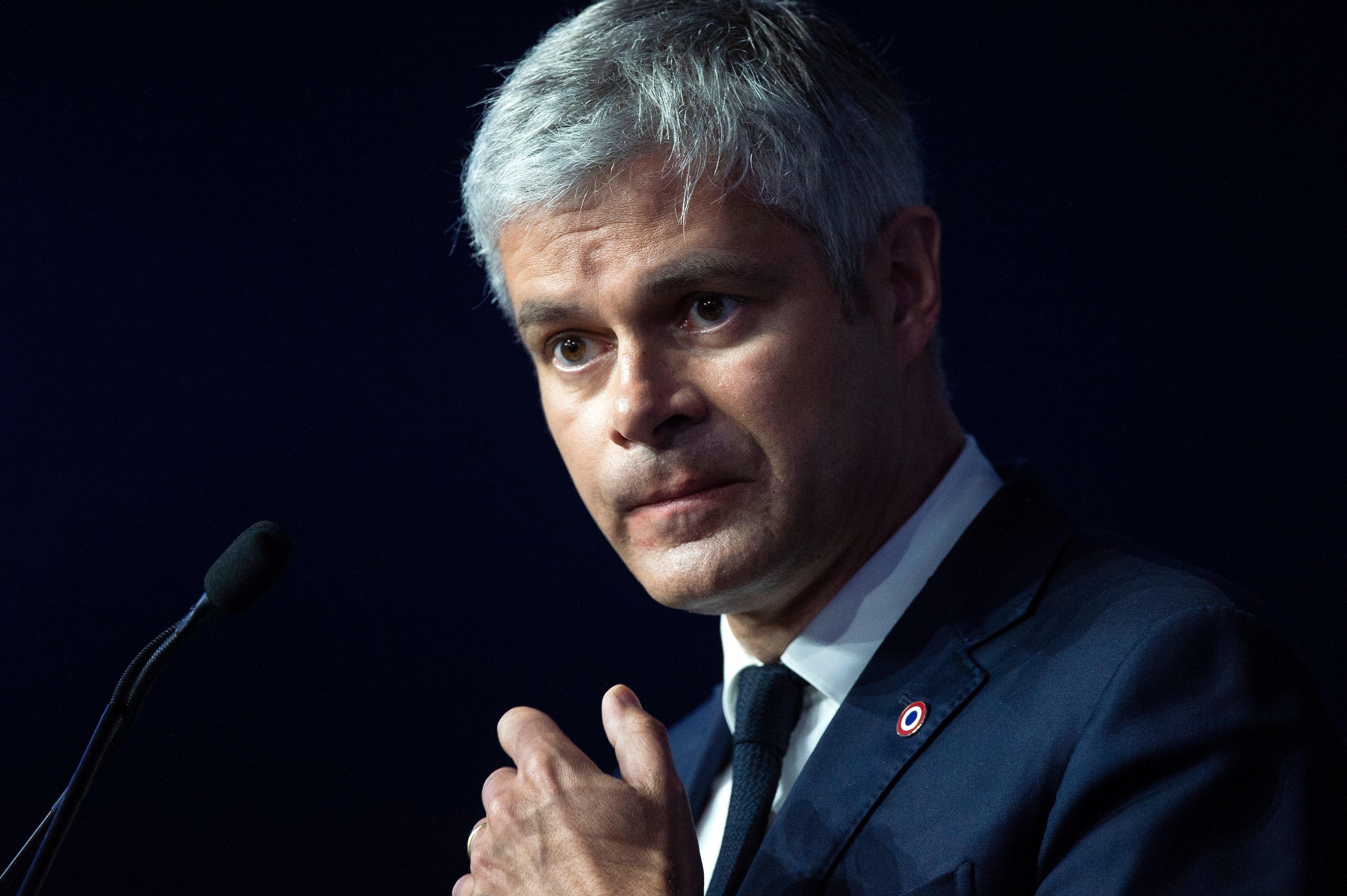Laurent Wauquiez à Lyon le 16 mars