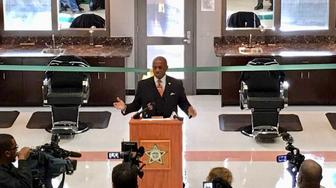 The Mecklenburg County Detention Center's new barber school.