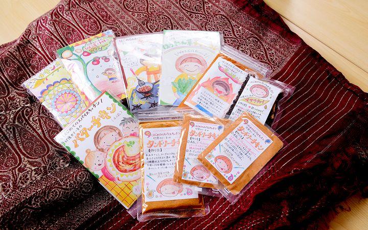 カリー子さんがインターネットで販売しているスパイスセットは、宮城県にある社会福祉法人「はらから」で製造されている。