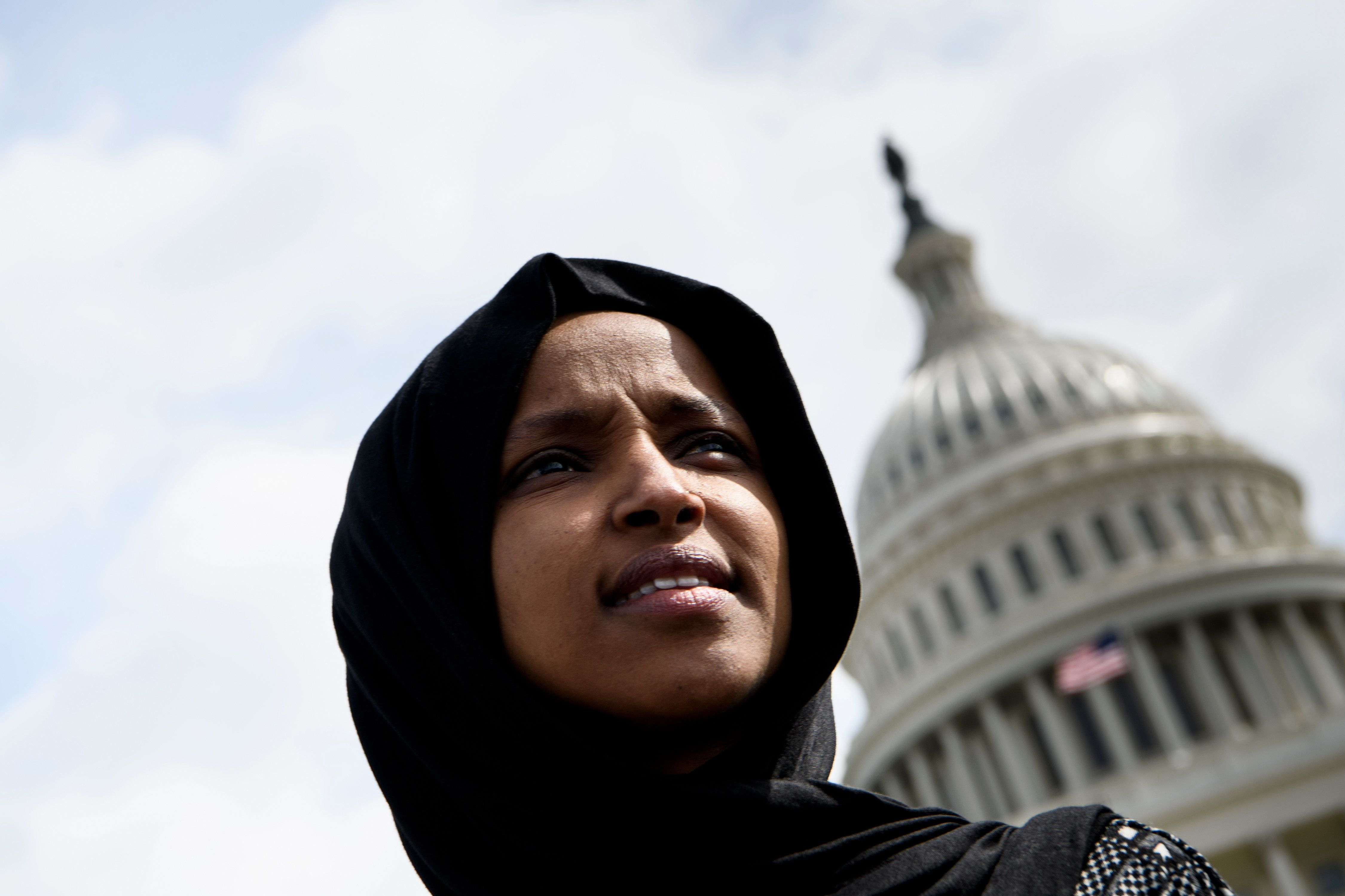 Rep. Ilhan Omar said that many of the latest threats against her reference the video President Donald...