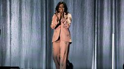 Michelle Obama Just Wore The Pink Crystal Suit Of Our