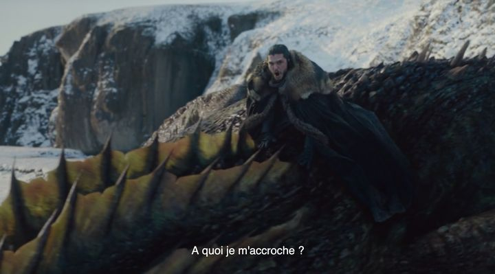 Premier envol solitaire à dos de dragon pour Jon Snow.
