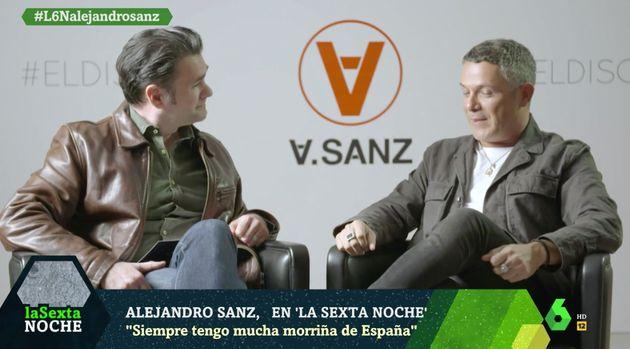 El mensaje político de Alejandro Sanz en 'La Sexta Noche' antes de las elecciones del