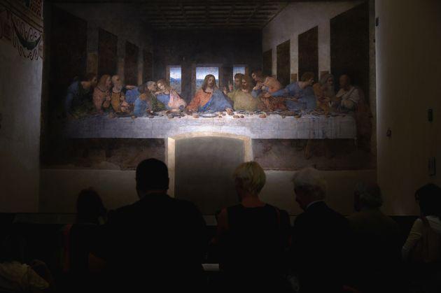 'La última cena', de Leonardo da Vinci, en elMuseo del Cenacolo Vinciano de Milán,...