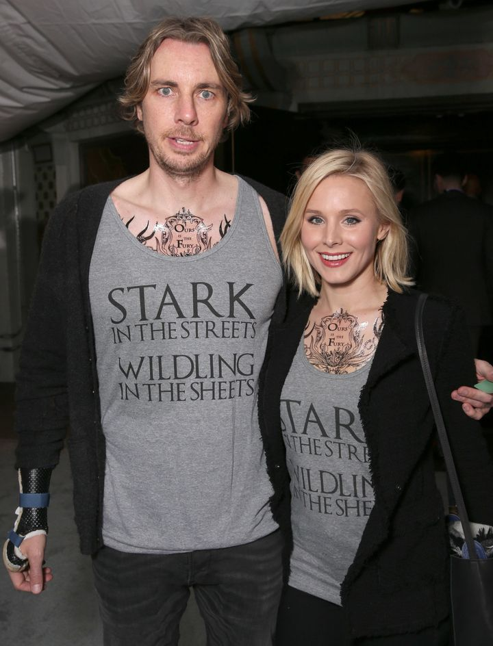 Dax Shepard and Kristen Bell attend the premiere of